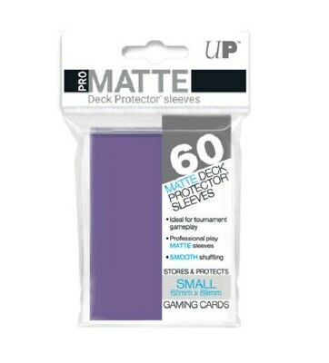 Ultra Pro Deck Protector Small Matte 60 Card Sleeves PURPLE YuGiOh Vanguard