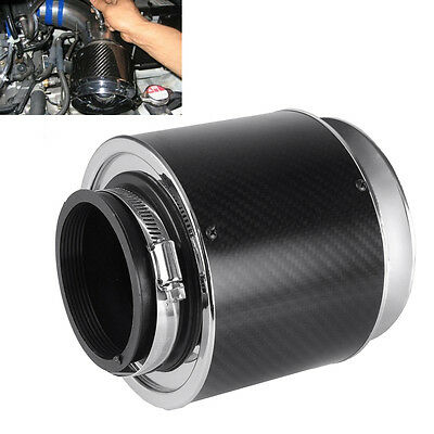 Universal 3'' Carbon Fiber Cold Air Intake Filter Car Truck SUV Performance