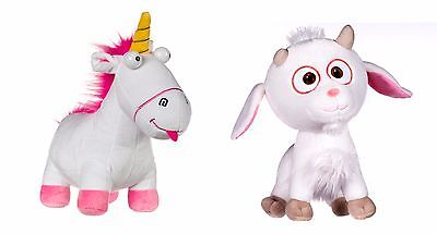 Despicable Me 3 Minions Fluffy Unicorn AND / OR Lucky Unigoat Plush Toy 18cm New