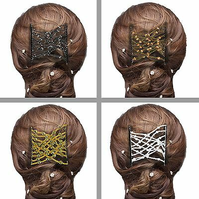 Magic Hair Slide Double Comb Tie Band Ponytail Bun Quick Salon Style Accessory