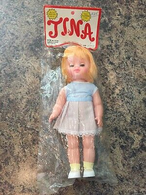 1960s TINA DOLL New In Sealed Package - Real Sleeping Eyes & Rooted Hair