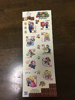 Mario Stamps Nintendo Japan Super Mario Set Japanese Post Office