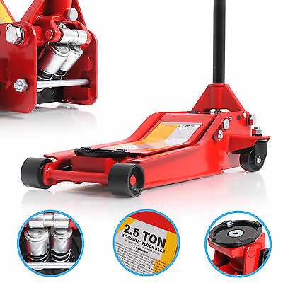 LOW PROFILE 2.5 TON 2500kg HYDRAULIC GARAGE WORKSHOP CAR VAN TROLLEY LIFT JACK