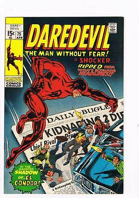 "Daredevil # 75 ""Now Rides the Ghost of El Condor! grade 8.5 scarce book !!"