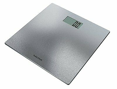 Salter 9046 SVGL3R Electronic Digital Bathroom Scale - Silver Glitter