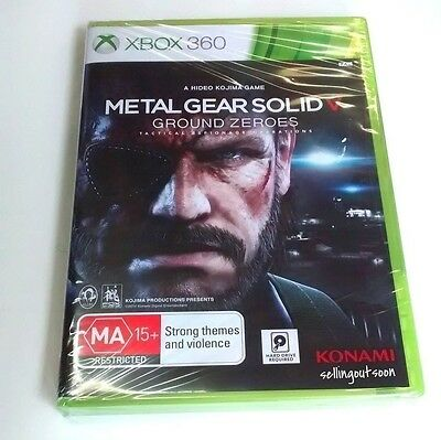 Metal Gear Solid 5 V: Ground Zeroes (Xbox 360) NEW *Pic of ACTUAL game in SYDNEY