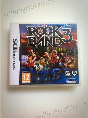 Rock Band 3 NDS game NEW for AU Nintendo DS 2DS 3DS XL console. Be a guitar hero