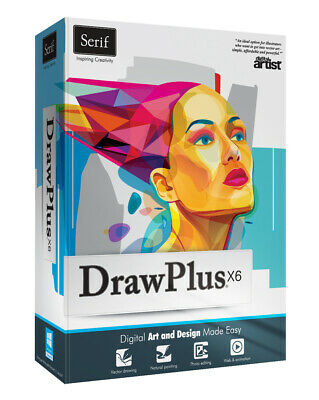 Serif Drawplus X6 NEW Windows PC Software digital art illustrator design drawing
