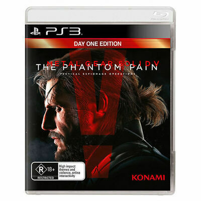 Metal Gear Solid V The Phantom Pain Sony PS3 BRAND NEW AUS Day One Edition Game