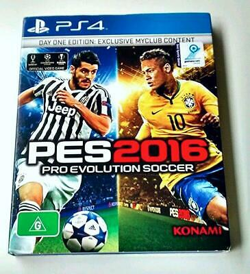 PES 2016 PS4 *NEW *Day One Ed*Aussie *Game in Sydney *Pro Evolution Soccer 16