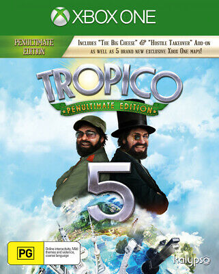 Tropico 5 The Penultimate Edition XB1 NEW, SEALED, AUSTRALIA Xbox One PAL UK NZ