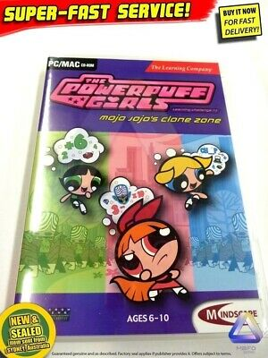 POWERPUFF GIRLS game for Windows PC NEW educational computer software girls toys