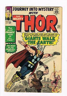 Journey into Mystery # 104 Kirby Thor grade 4.0 scarce book !!