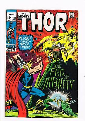 Thor # 188 The End of Infinity !  grade 7.5 scarce book !!