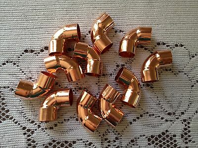 """Lot of (20) 1/2"""" 90 Degree Copper Elbow Fitting CxC ,Plumbing Parts ship fast"""
