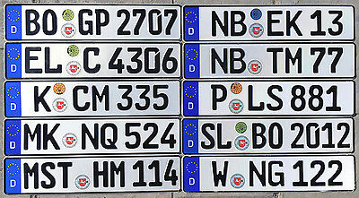 German License Plate with New Wolfsburg Seal for VW