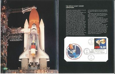 STS-8 Flight Cover USPS NASA Space Mail Launched Challenger w/ 9.35 stamp #1909
