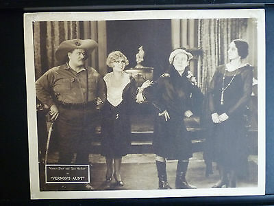 1930 Vernon's Aunt - Lobby Card - Laurel & Hardy Look-Alikes In Drag - Gay Trans