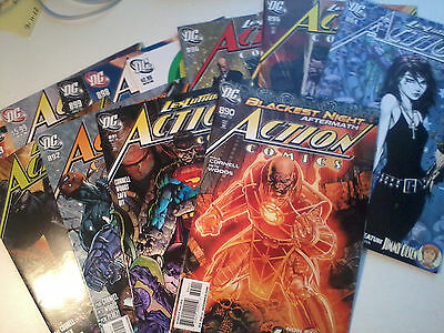 ACTION COMICS #890-900 + ANNUAL 13, 2010. NM Paul Cornell, Death/Sandman in #894