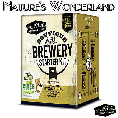 BOUTIQUE BREWERY Starter Kit PEAR CIDER for perfect handcrafted Brew -Mad Millie