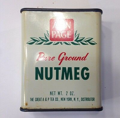 Vintage Ann Page Metal Pure Ground Nutmeg Container - Great Condition