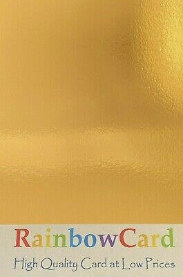 20 Sheets - Gold Mirror A4 Crafting Card 250 Gsm