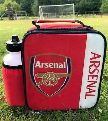 Arsenal FC Vertical Lunch Bag/Box and 600ml Bottle Set | Arsenal Lunchbox