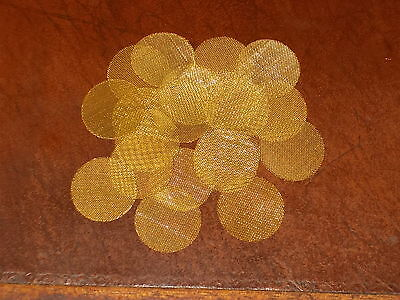 """15 Brass smoking screens for pipes or hookahs 1"""" 25mm HEAVY DUTY FREE SHIPPING"""