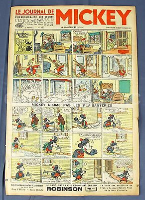 Le Journal Mickey Mouse French Newspaper Sunday Comics Color September 1937 #153