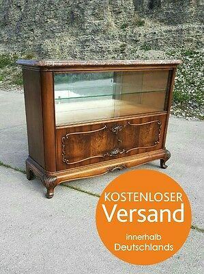 kommode nussbaum jugendstil anrichte vitrine massiv. Black Bedroom Furniture Sets. Home Design Ideas