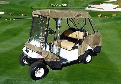 "4 Seater Driving Enclosure With 2 Seater(up to 58""L) Roof Top Golf Cart Cover."