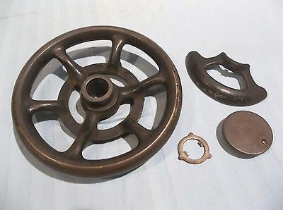 Antique SINGER 1910 SPHINX 27/28 sewing machine parts WHEEL, GUARD, END CAP