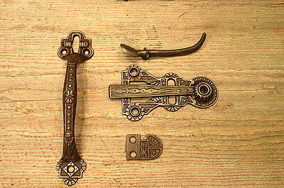 Thumb Latch Screen Door Handle Set Pull Gate Drop Barn Door Farm House Vintage