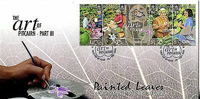 Pitcairn Islands 2003 Art. Painted Leaves FDC