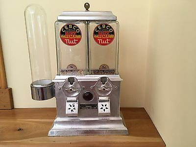 Cebco Hot Nut machine from 30s-40s.  Original with glass cup holder and keys.