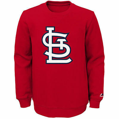 NWT Majestic St. Louis Cardinals Youth Red Our Team Pullover Sweatshirt