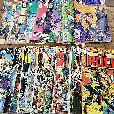 DC Comic Books Lot of 28 1973 to 2000 Library Copies Musty Odor Sgt Rock Batman