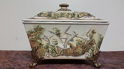 Chinese porcelain and brass or bronze pedal antique