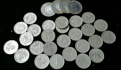 26 English Pounds, 4X2 Pounds Uk Coins