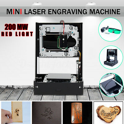 AU CNC Laser Engraving Desktop Cutting Machine Printer DIY Engraver Cutter 200mw