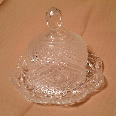 Avon Vintage Cut Glass Dome Butter Dish