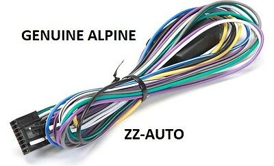NEW OEM WIRE Power Harness for Alpine KTP-445U Power Pack ... Ktp U Wiring Harness on alpine stereo harness, fall protection harness, maxi-seal harness, obd0 to obd1 conversion harness, amp bypass harness, radio harness, engine harness, safety harness, pony harness, electrical harness, nakamichi harness, pet harness, suspension harness, cable harness, dog harness, battery harness, oxygen sensor extension harness,