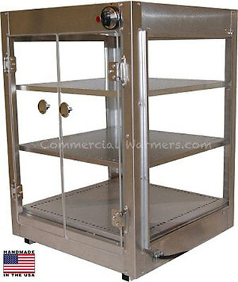 Food Pizza Pastry Warmer Display Case 18X18X25