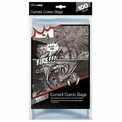 Ultra Pro Comic Series Current Size Comic Bags Acid Free Ultra Clear 100 in Pack