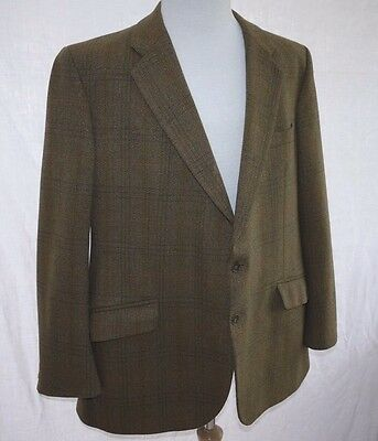 SMART 60s VINTAGE BLADEN COUNTRY CHECK TAILORED TWEED WOOL JACKET BLAZER 46R VGC