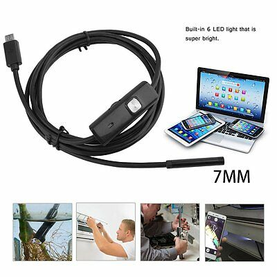 7mm 6 LED USB Endoscope Borescope Waterproof Inspection Tube Video Camera Scope