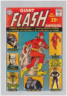 Flash Annual # 1 Heroes & Villains in the Hall of Fame ! grade 5.5 scarce book !