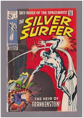Silver Surfer # 7  The Heir of Frankenstein !  grade 8.0 scarce book !
