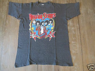 Vintage 70s ROLLING STONES TOUR OF AMERICA T SHIRT SIGNED
