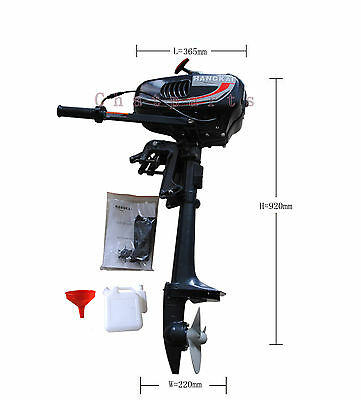 Tow-strok 3.5HP HangKai Gas Petrol Water Cooling Outboard Motor